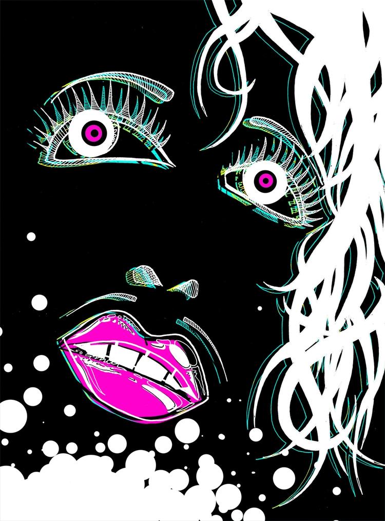 Drunken Bubbles - drag, illustration - drunkenmissorderly | ello