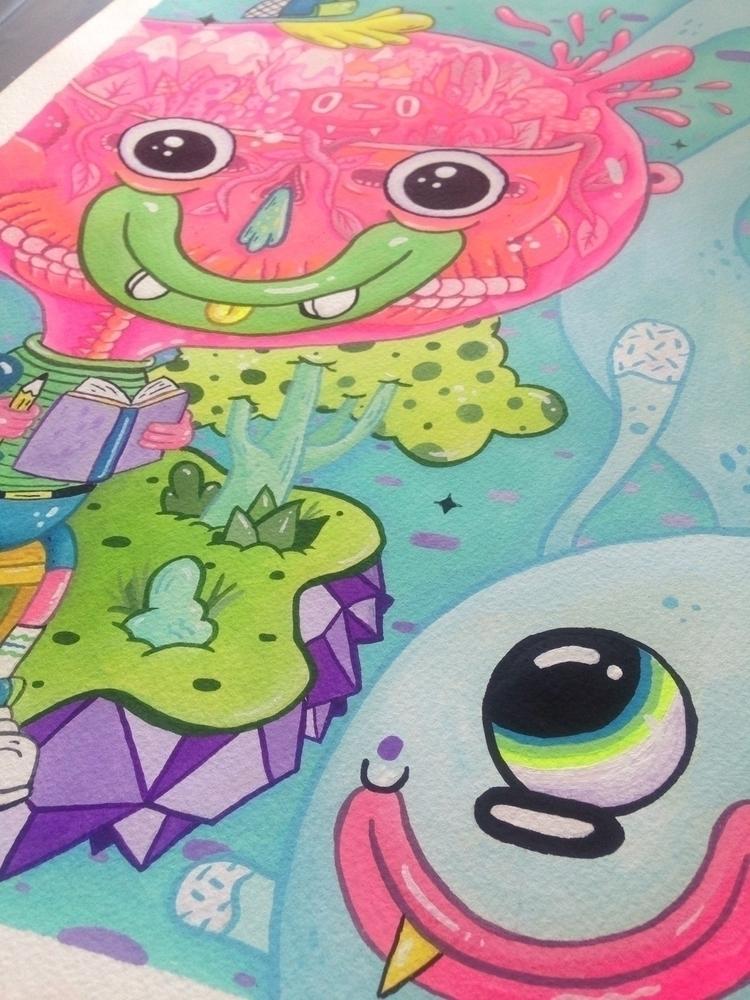 World Mind painting solo show O - frenemy   ello