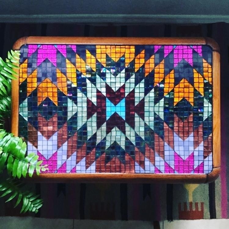 Kilim inspired mosaic tabletop - rhea_cheri | ello