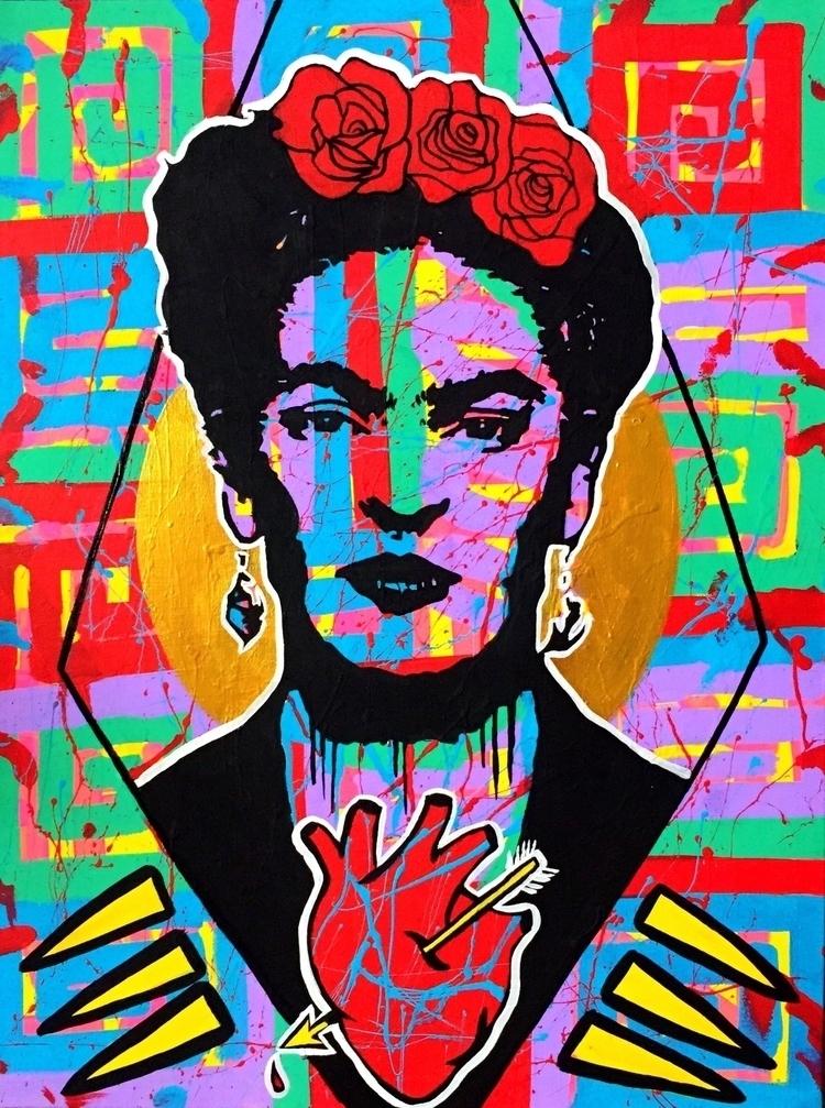 El Corazón de Frida, 22x28, acr - graffitiegypt_ | ello