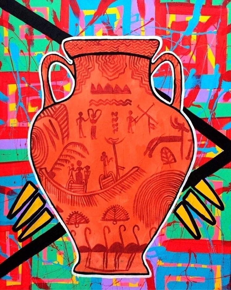 Naqada Pottery, Ancient Egypt 3 - graffitiegypt_ | ello