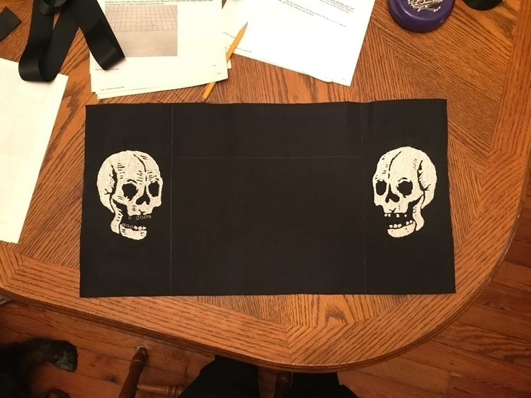 Double embroidered skulls proje - ryan | ello
