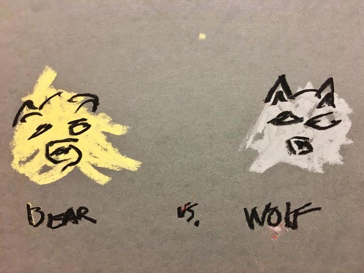 BEAR WOLF - art, drawing, illustration - jkalamarz | ello