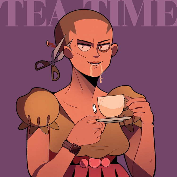 Tea time - illustrator, illustration - luistoses | ello
