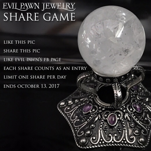 Giveaway! Remember reposting en - evil_pawn_jewelry | ello