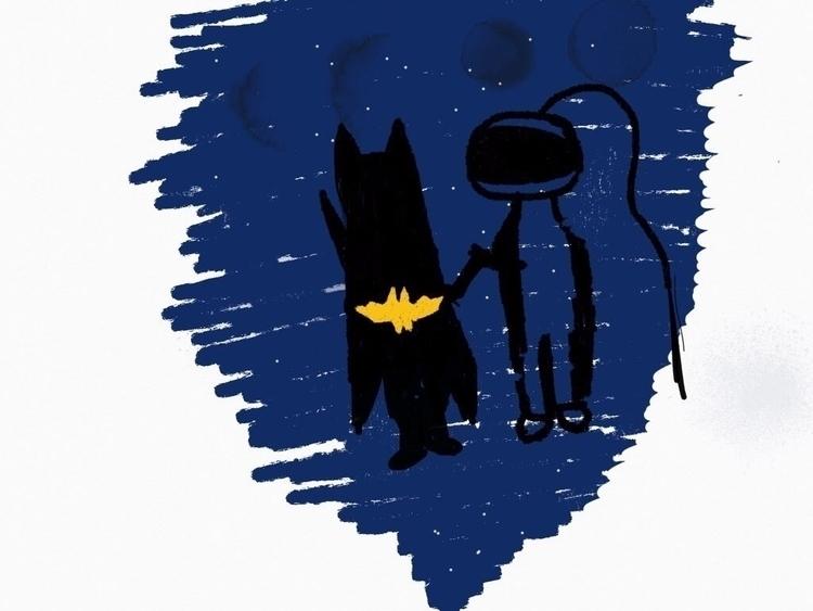 Batgirl Sir Astronaut systems B - hidingpanda | ello