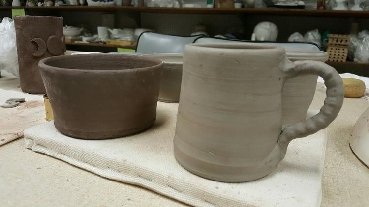 Clay day today. Couple mugs, cr - hiddenlegacy | ello