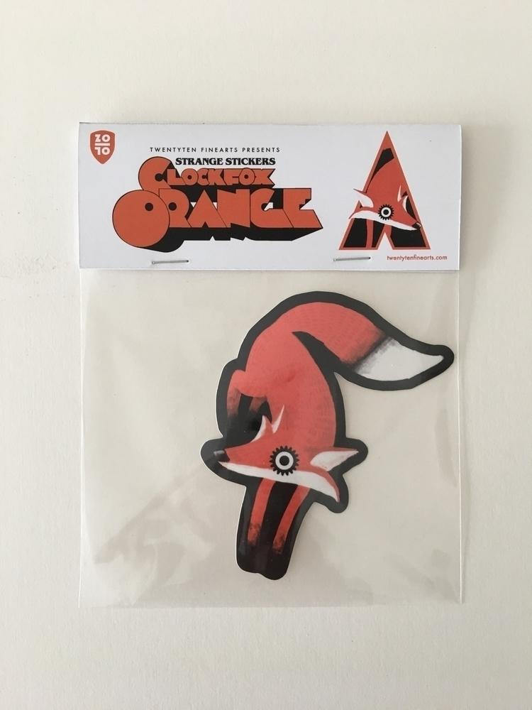 Clockfox Orange - sticker, art, urban - alexanderfechner | ello