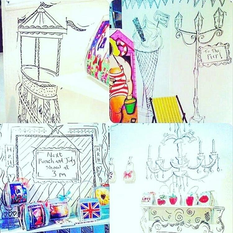 illustration, mural, markerpen - helenrochfort | ello