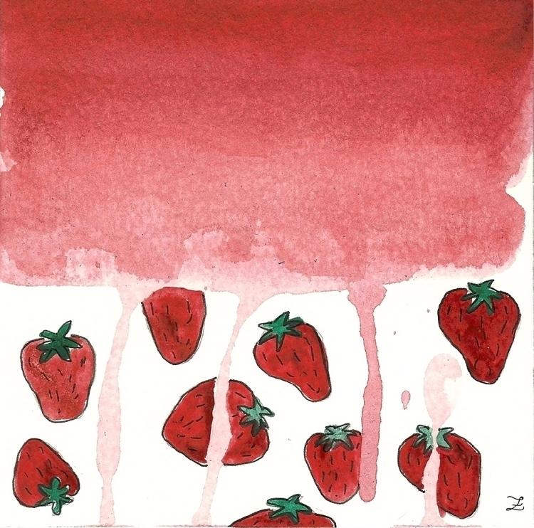 Stawberry fields Lámina mano en - irenizlo | ello