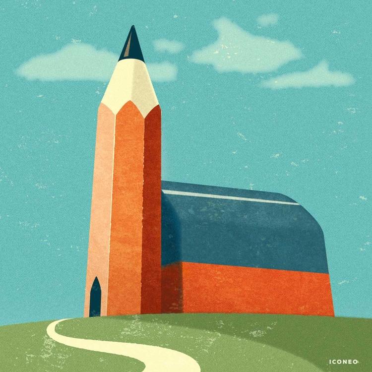 Art church - art, illustration - iconeo | ello