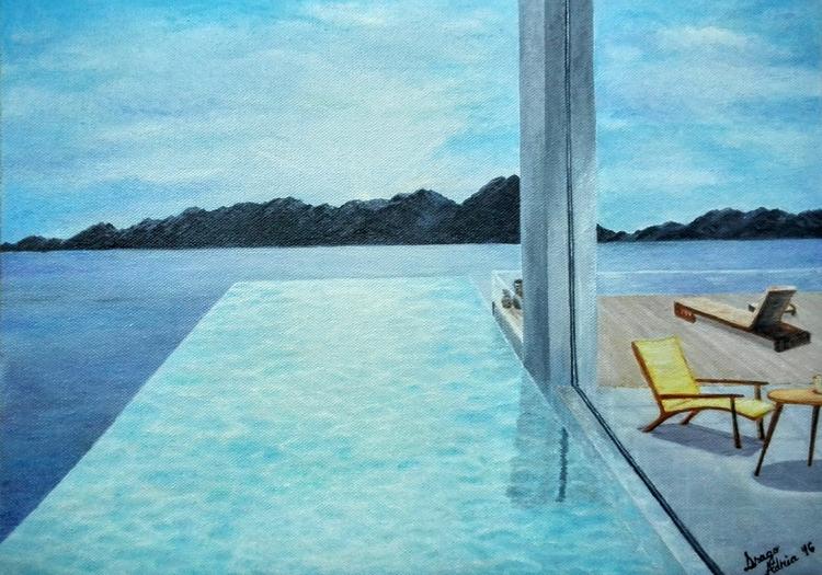 Pool oil canvas Submitted [Issu - dragoadria | ello