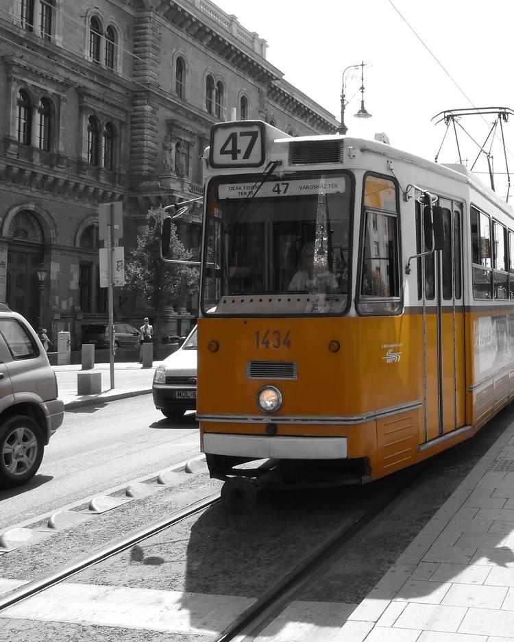 Tram - Budapest, colour, shadow - ericgnome   ello