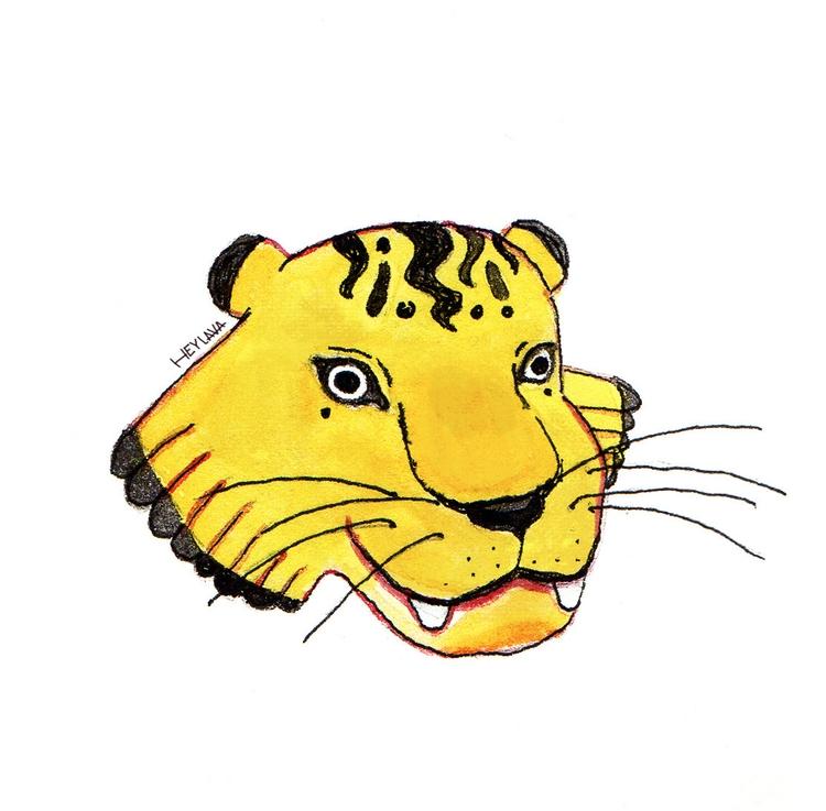 'Tiger' Pen watercolor  - illustration - heylava | ello