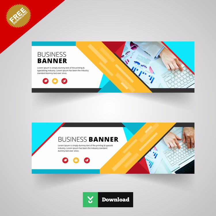 Multicolor business banner - zaas | ello
