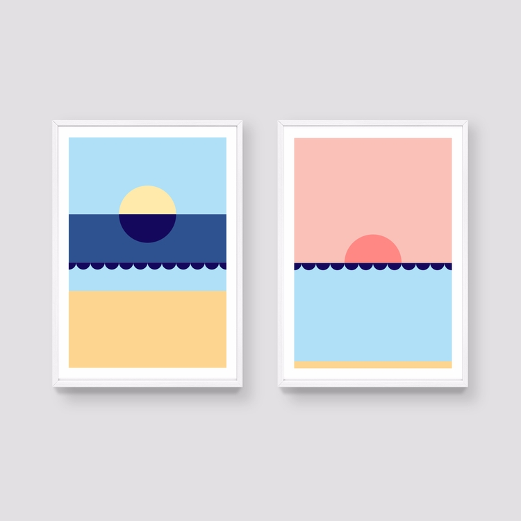 20% Tide set prints - colourful - studioonto | ello