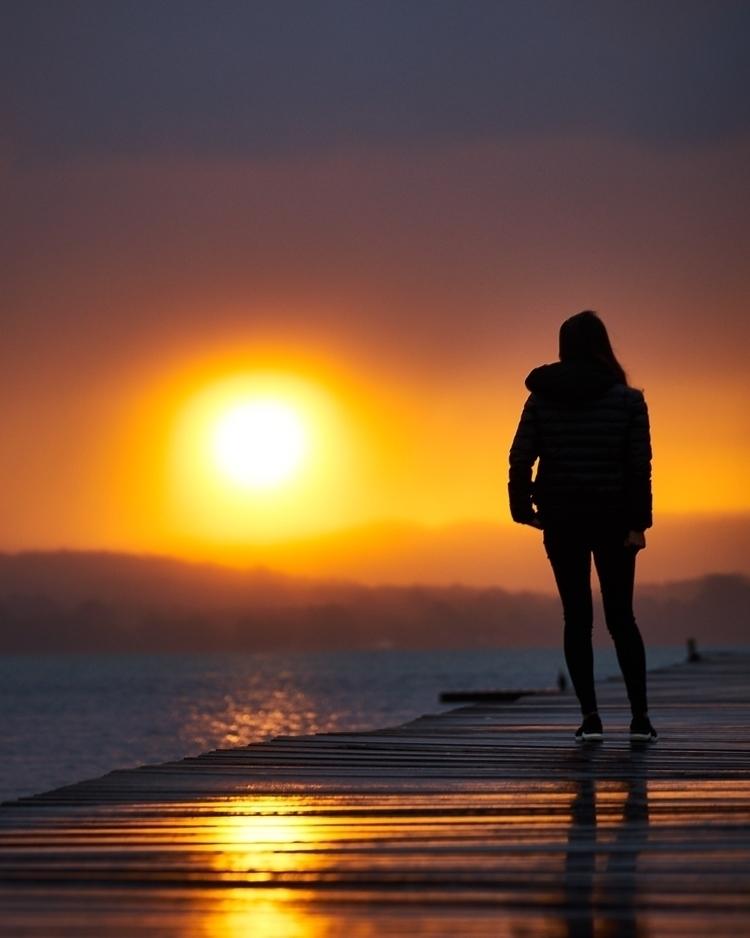 Rainy day, misty sunset - ellophotography - solarfractal | ello