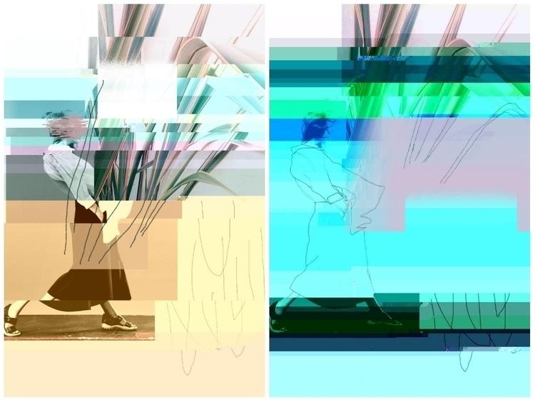 Diptych - abstraction, abstractart - rachelwadlowart   ello