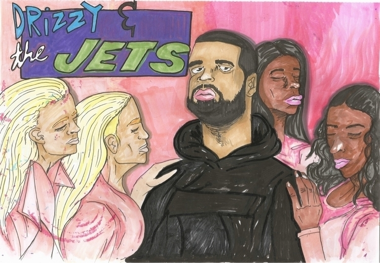 Drizzy Jets || - artwork, art, canvas - drugquests | ello