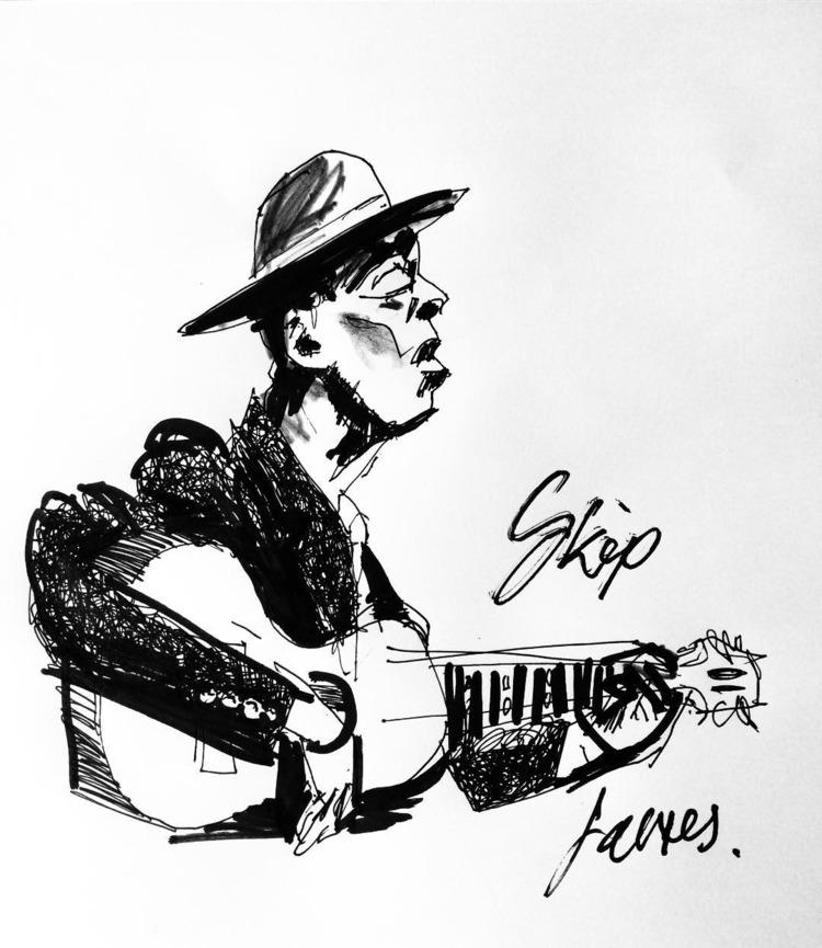 quick sketches Blues legends - sketch - oliverlancaster | ello