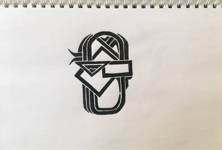 draw, fantasy, logo, tatoo, handdrawing - aming | ello