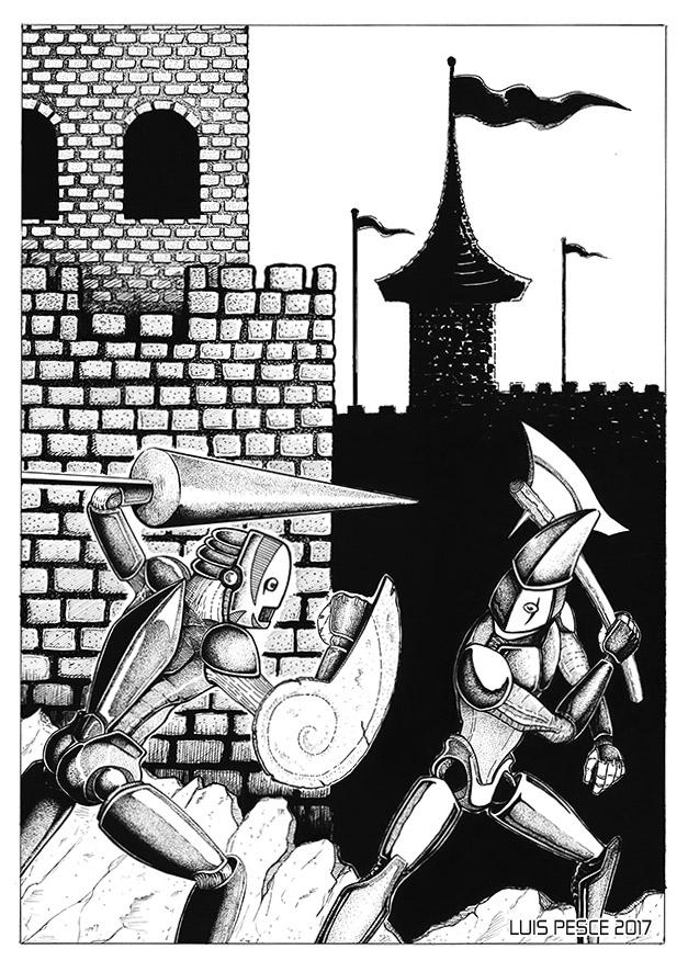 08 - Lucha por el reino - art, robot - luispesce | ello