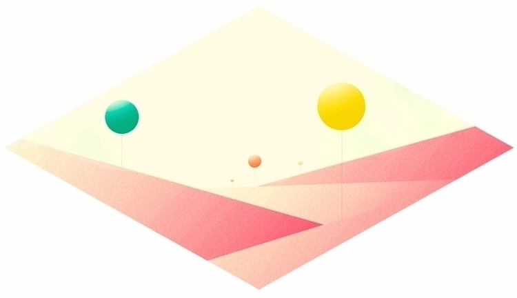 digital, colors, landscape, highfive - artsime | ello
