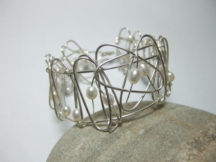 Handmade Silver Wire Bangle. ma - silverwiredesigns | ello