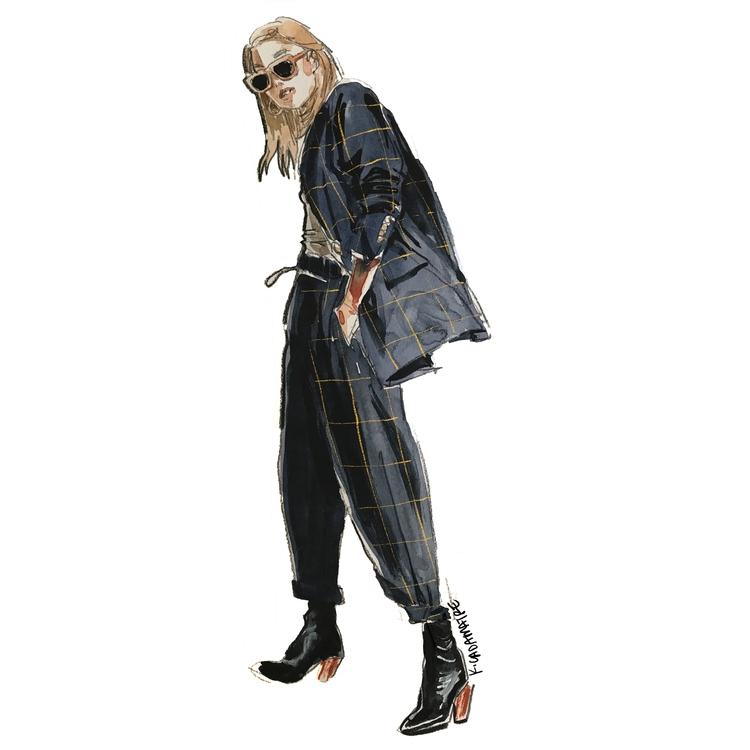 Margaret Zhang / Fashion Sketch - katiecadamatre | ello
