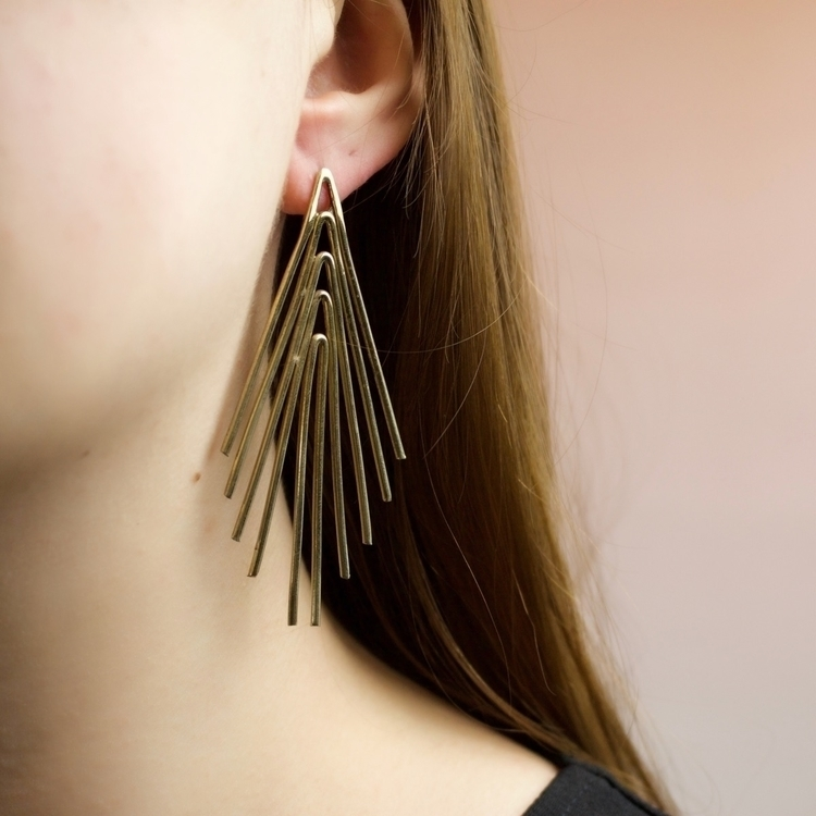 Serena earrings beams light lob - theserpentsclub | ello