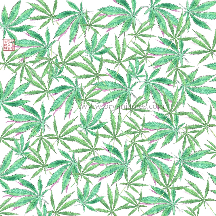420 Leaves - digital collage sc - bryanjamesart   ello