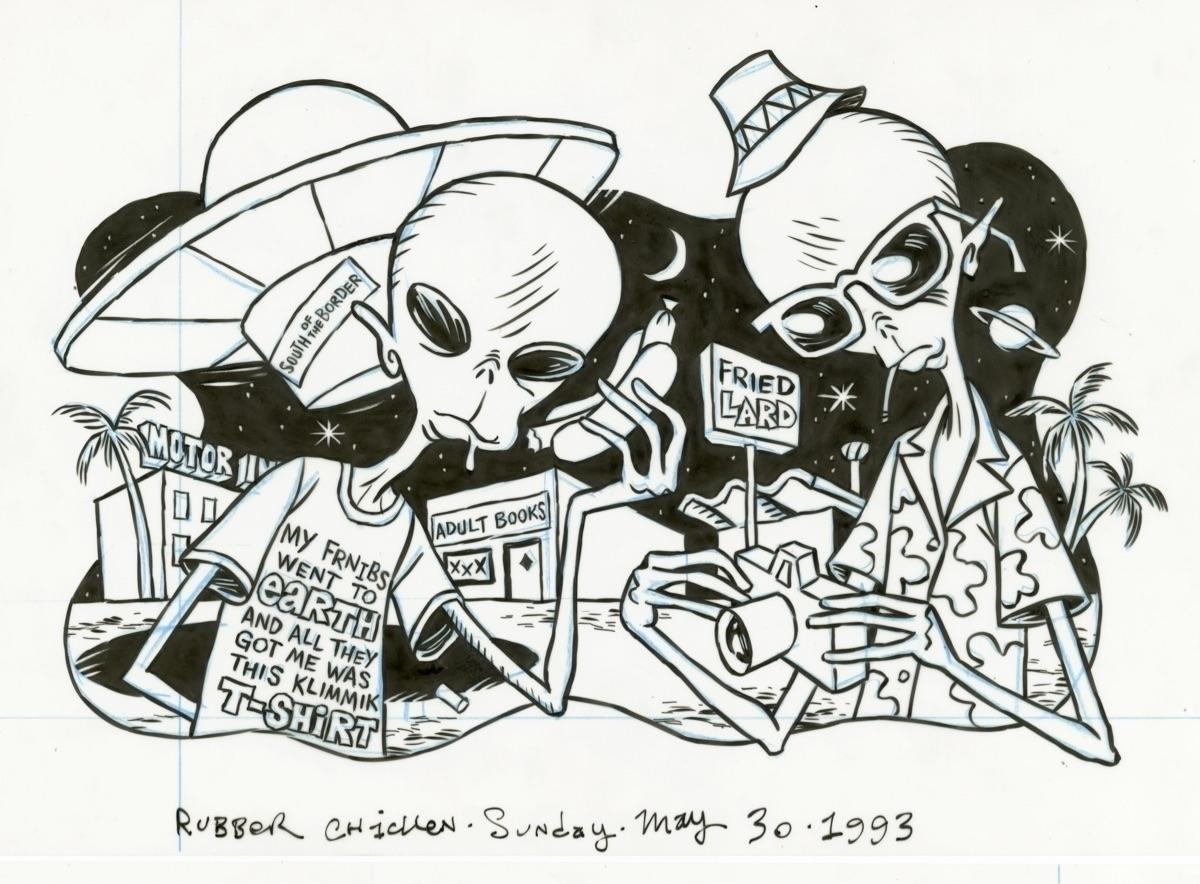 Aliens America illo RUBBER CHIC - dannyhellman | ello