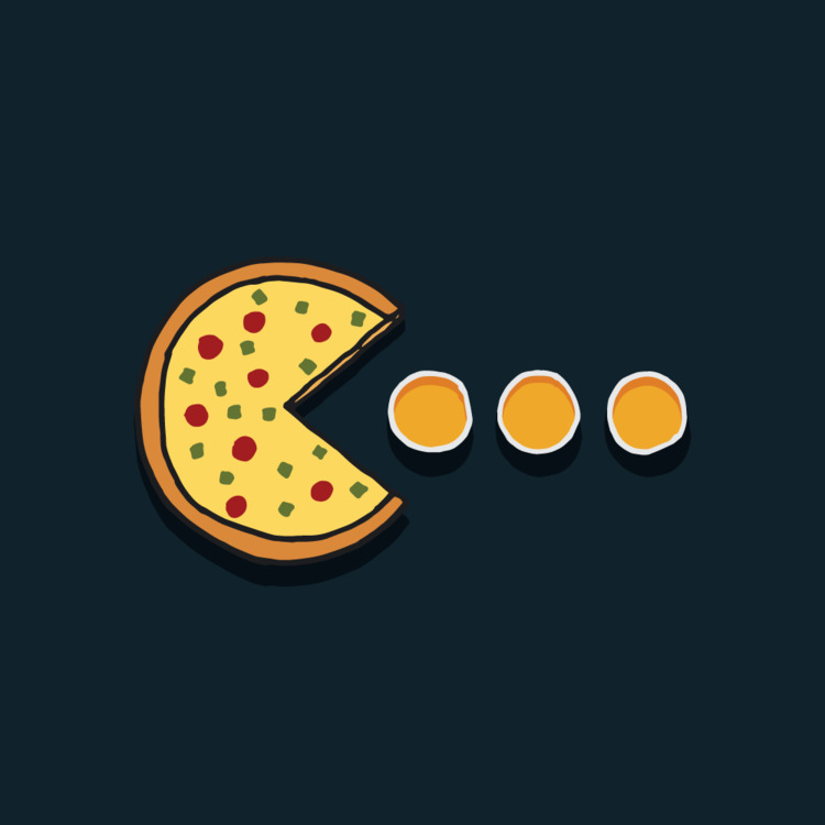 Friday, bring pizza beer - illustration - mfslayton | ello