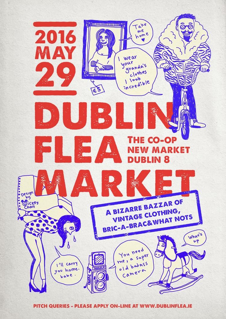 Poster Dublin Flea Market. Insp - mickeygogo | ello