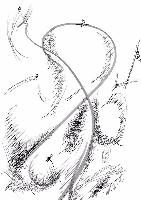 Paisaje abstracto 2 - abstractart - erisado | ello