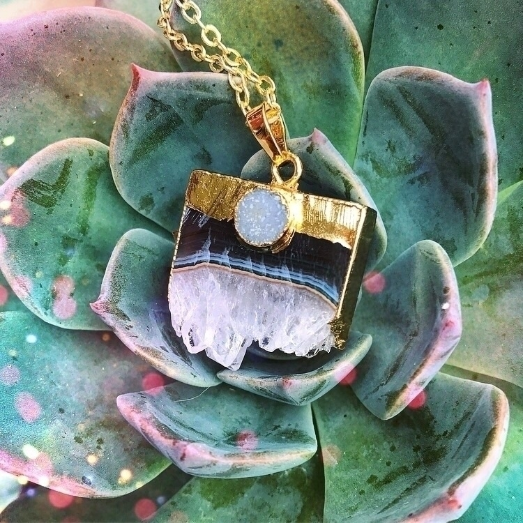 Amethyst Succulents - crystaljewelry - rockswithsass | ello