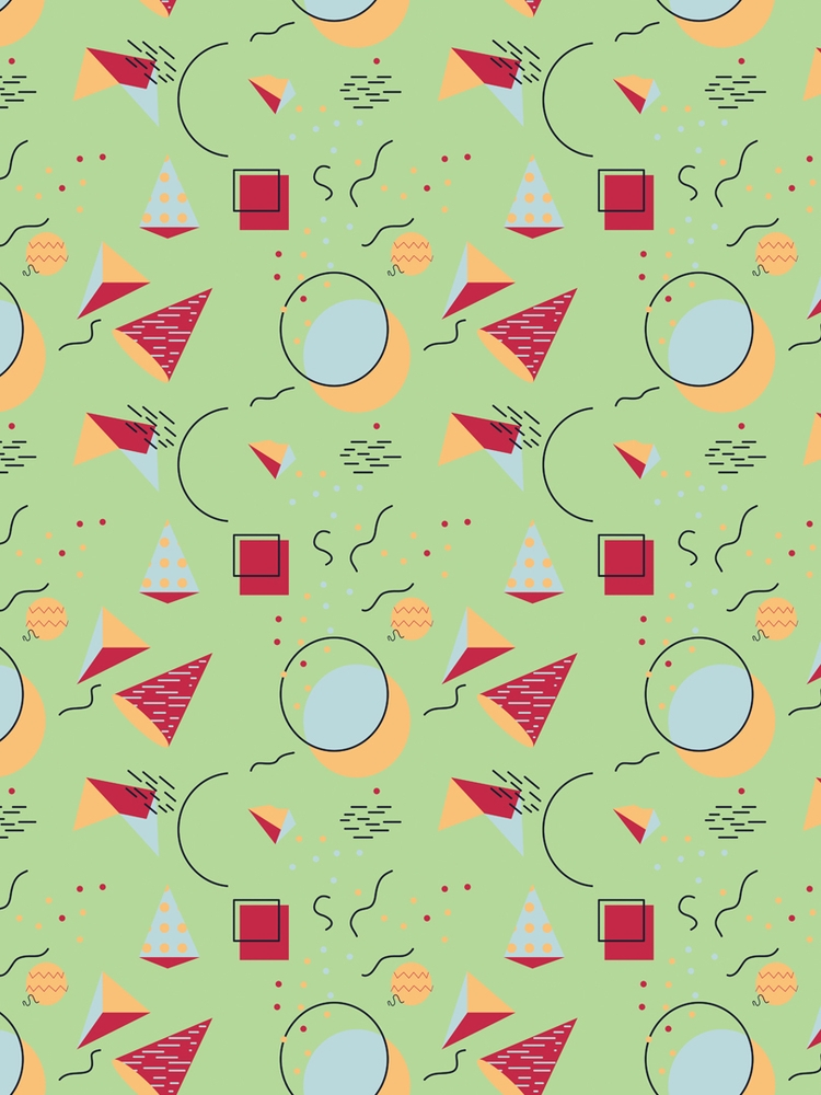 Memphis style pattern created A - svaeth | ello