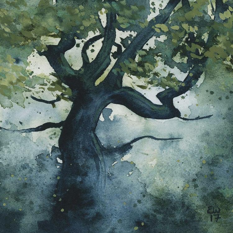 Spooky tree watercolor - landscape - ellenwilberg | ello