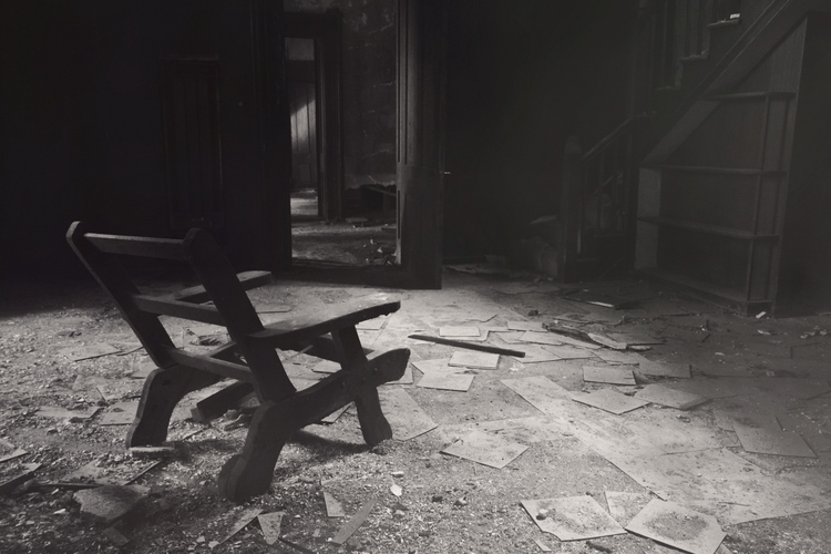 abandoned, Kentucky, ruin, chair - dead_splicer | ello