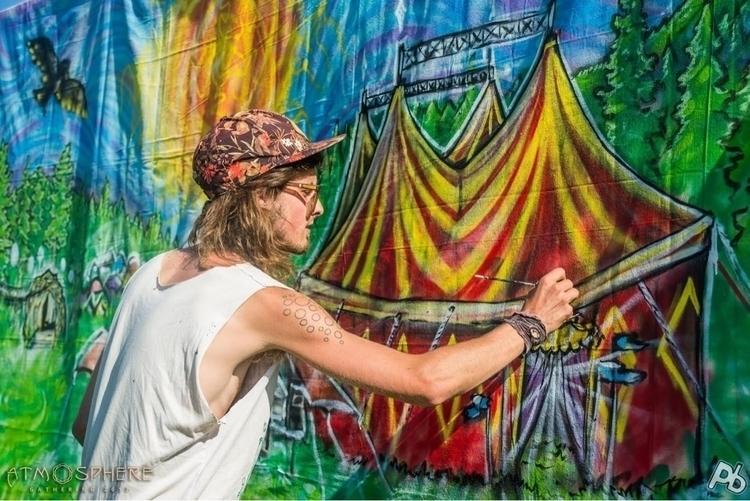 mural painting Atmosphere Gathe - lookupcatnip | ello