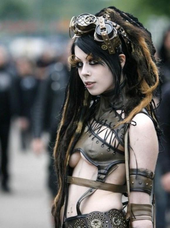 goth, steampunk, underboob, tits - ukimalefu | ello