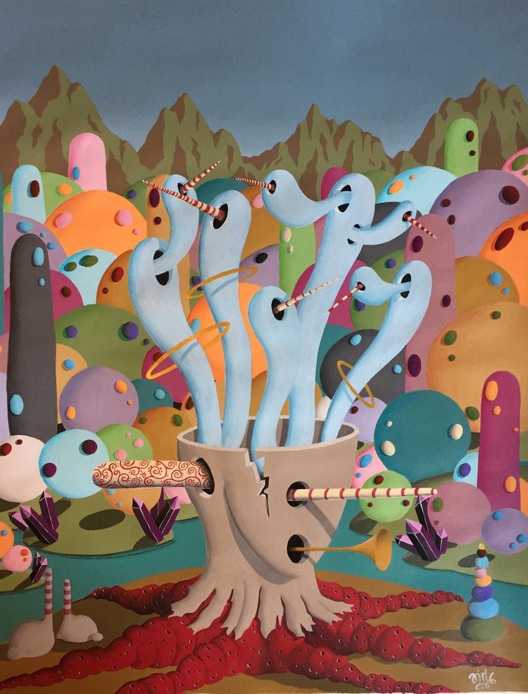 La Folie / Madness - art, painting - jimmy-p | ello