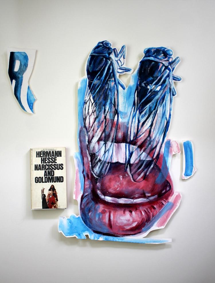 'Cicada Eyes' Acrylic paper pap - ashlyn_metcalf | ello