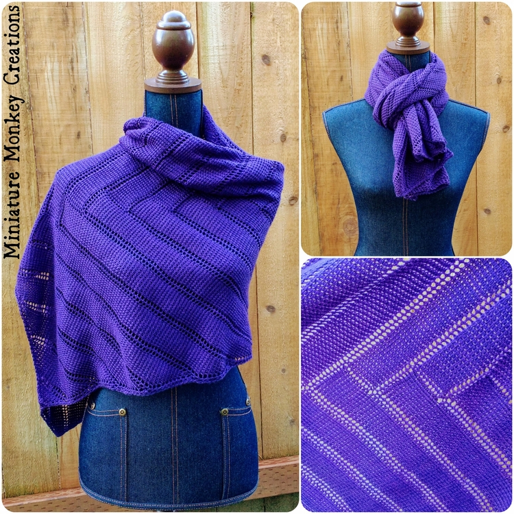 Purple Chevron Shawl? rectangul - miniaturemonkeycreations | ello