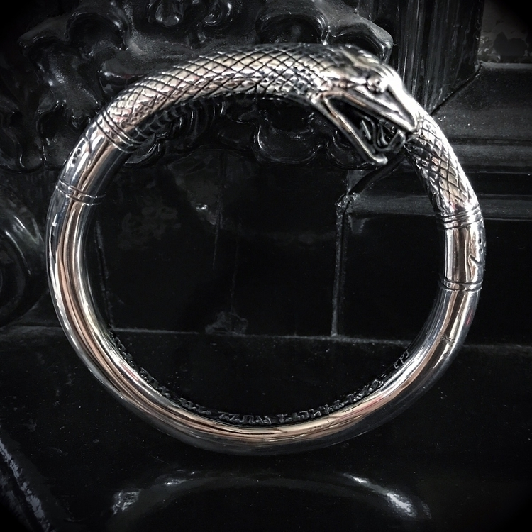 Angitia Serpent Bangle website - evil_pawn_jewelry | ello