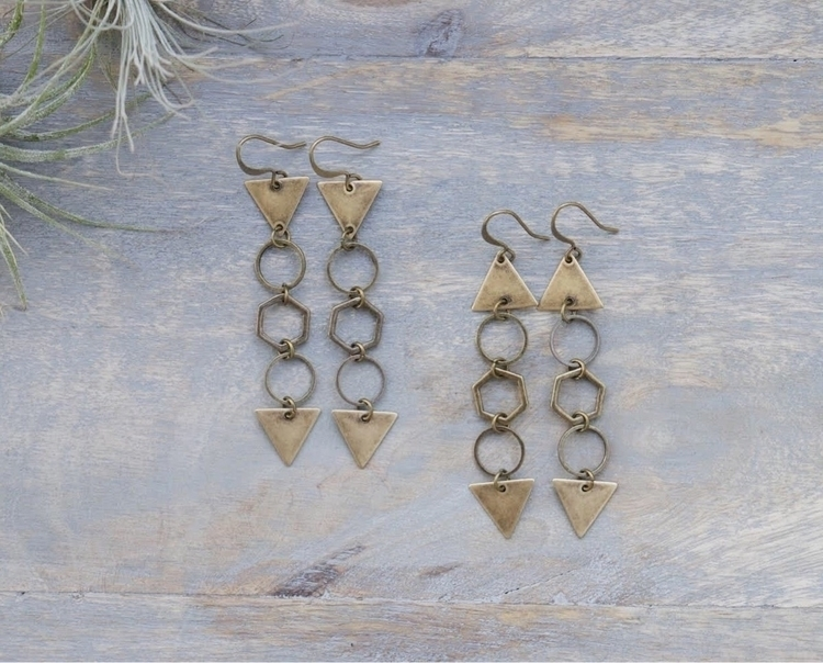 Geometric brass earrings - emmandflow | ello