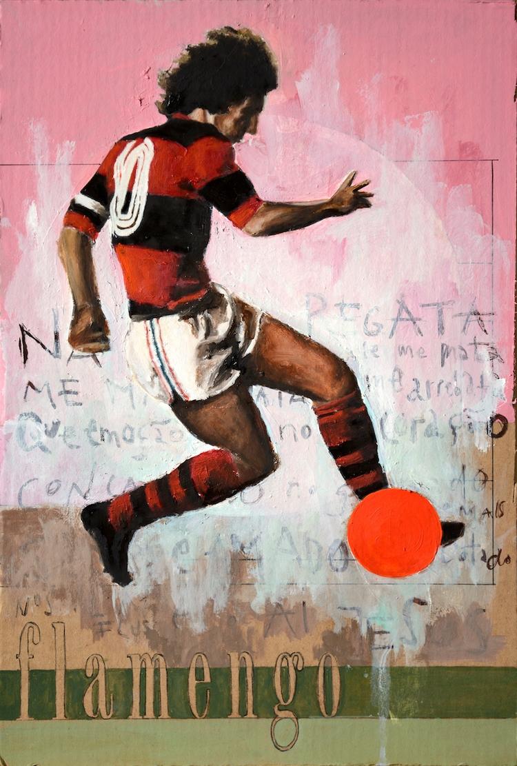 Love Flamengo Oil cardboard 201 - daviddiehl | ello