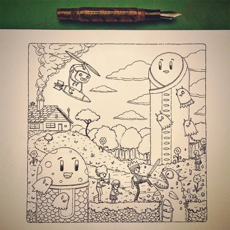 drew glorious vintage brown ebo - junkyardsam | ello