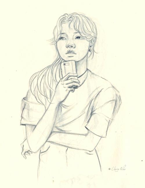 doodle, drawing, ponder, sketch - j0eyg1rl | ello