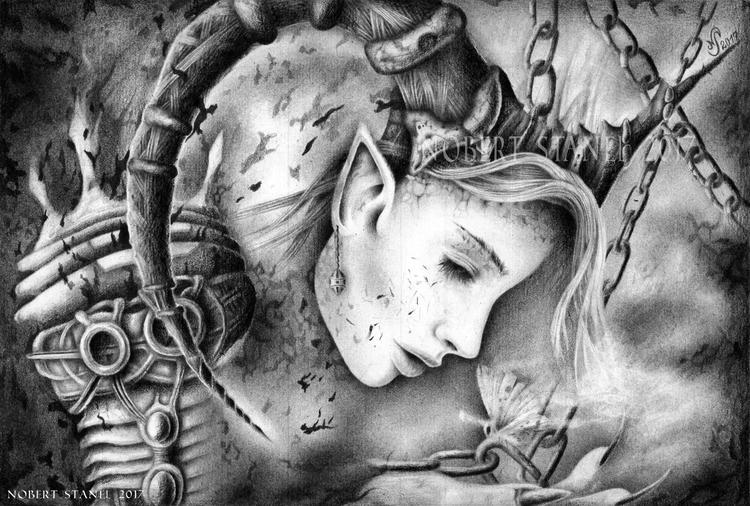 Exiled - Pencil Drawing, inspir - nobertstanel | ello